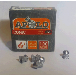 Balines Apolo 5.5 mm Conico 100 un