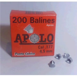Balines Apolo 4.5 mm Conico 200 un