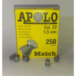 Balines Apolo 5.5 mm Match 250 un