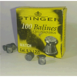 Balines Apolo 5.5 mm Match 100 un