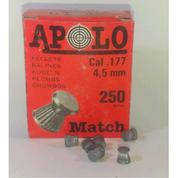 Balines Apolo 4.5 mm Match 250 un