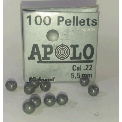 Balines Apolo 5.5 mm Esfericos 100 un