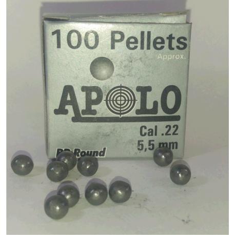 Balines Apolo 5.5 mm Esfericos 100 un