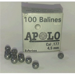 Balines Apolo 4.5 mm Esfericos 100 un