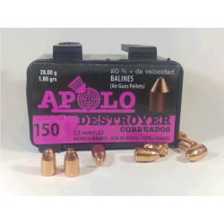 Balines Apolo 5.5 mm Destroyer Cobre 150 un