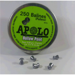 Balines Apolo 4.5 mm Hollow Point 250 un