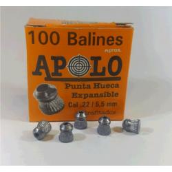 Balines Apolo 5.5 mm Punta Hueca 100 un
