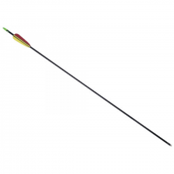Flecha Leslie Arco D054 Fibra Vidrio 24 Negro
