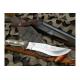 Cuchillo Yarara Cazador 1 Hoja 17 cm Vaina Cuero Mango Ciervo
