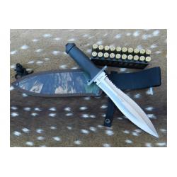 Cuchillo Yarara Chanchero Hoja 25 cm con Vaina Acero Carbono