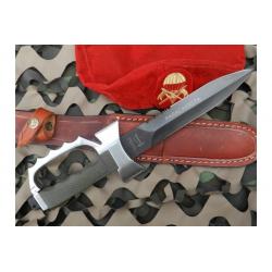 Cuchillo Yarara Paracaidista con Vaina Cuero Hoja 20 cm
