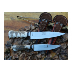 Cuchillo Yarara Ciervo Hoja 12.5 cm con Vaina Acero Inox