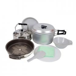 Marmita Doite 8527 Set Cocina para 2 Personas con base y pano