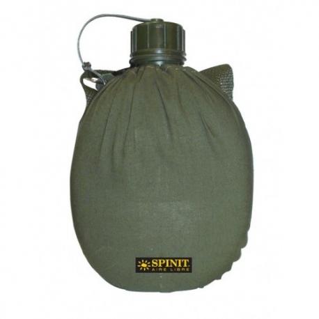 Cantimplora Spinit Plastica 1 lt con Funda y Bandolera