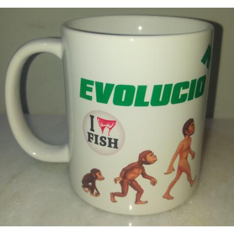 Taza Pescador Evolucion Importada