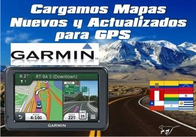 Carga y actualización de mapas para gps Garmin, siempre la última versión