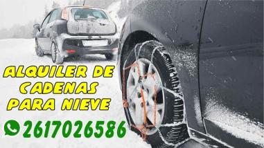 Alquiler de cadenas para nieve, autos y camionetas, seguridad para ir a la montaña o cruzar a Chile